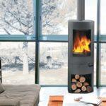 Poele a bois norvegien double combustion
